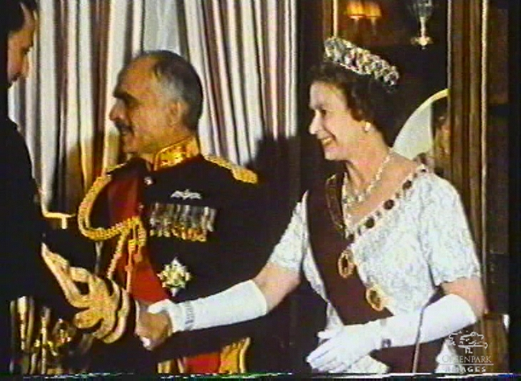 Queen Elizabeth II and King Hussein of Jordan