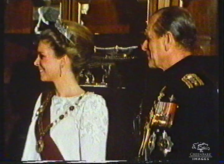 Queen Noor and Prince Phillip