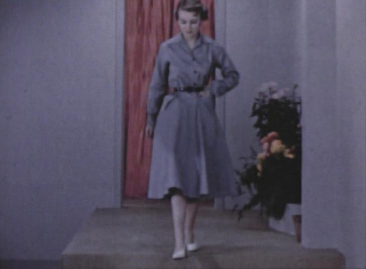 1950s grey shirt dress